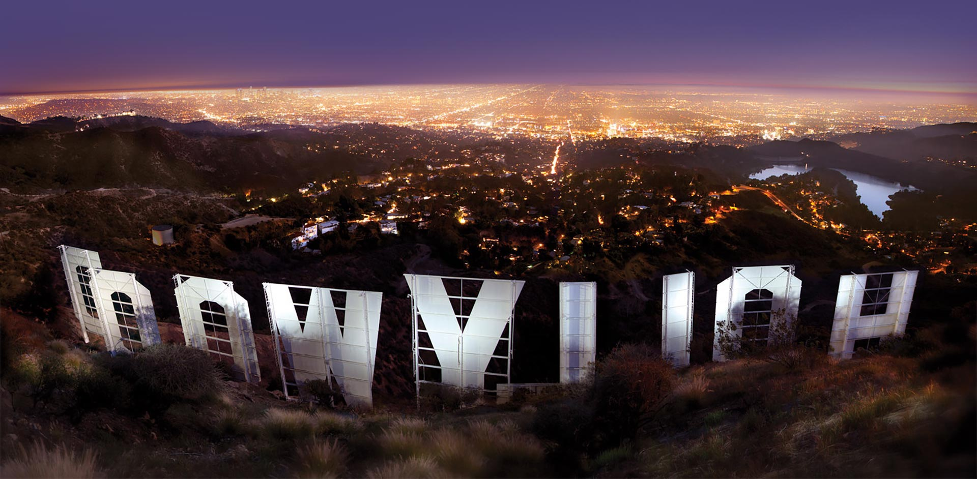 Hollywoodsign Nightsky